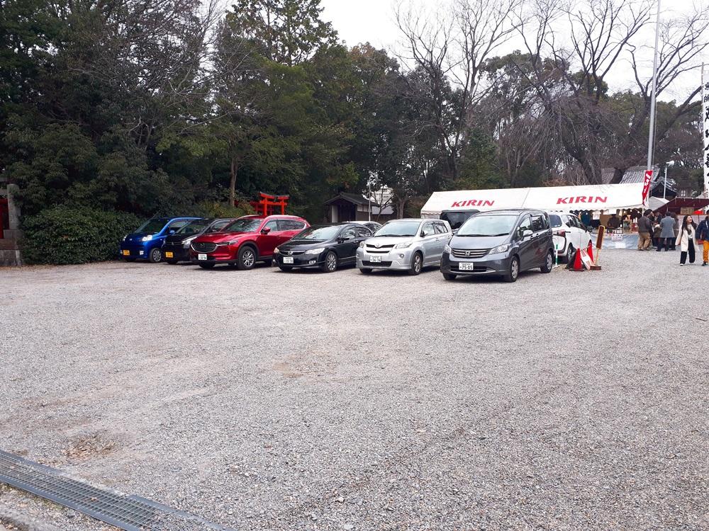 城山八幡宮の駐車場